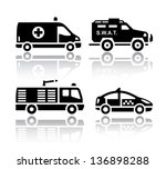 set of transport icons   rescue ... | Shutterstock .eps vector #136898288