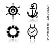 set of travel icons  vector... | Shutterstock .eps vector #136898324