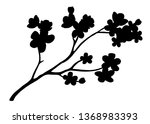 herry tree blossom black... | Shutterstock .eps vector #1368983393