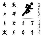 dash  fast  run icon. walking ...   Shutterstock . vector #1368985469