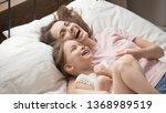 funny overjoyed sisters having... | Shutterstock . vector #1368989519