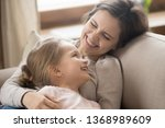 school age daughter enjoy time... | Shutterstock . vector #1368989609
