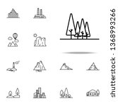 forest icon. landspace icons... | Shutterstock . vector #1368993266
