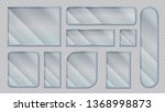 realistic glass banners.... | Shutterstock .eps vector #1368998873