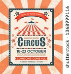 circus poster. carnival vintage ... | Shutterstock .eps vector #1368999116