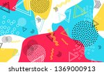 abstract fun background. colour ... | Shutterstock .eps vector #1369000913