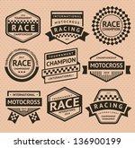 racing insignia. vector... | Shutterstock .eps vector #136900199