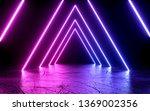 neon light shapes on black... | Shutterstock . vector #1369002356
