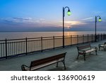 Pier During Sundown In...