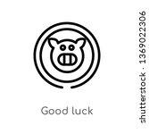 good luck vector line icon.... | Shutterstock .eps vector #1369022306