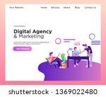 web design template for digital ... | Shutterstock .eps vector #1369022480