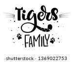 Tigers Family Isolated Black'n...