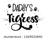 Daddy's Tigress Isolated Black...