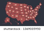 united states of america retro... | Shutterstock .eps vector #1369035950