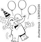 black and white illustration of ... | Shutterstock .eps vector #136905104