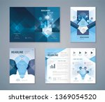 cover book design set  blue... | Shutterstock .eps vector #1369054520