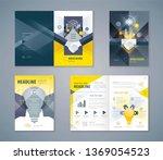 cover book design set ... | Shutterstock .eps vector #1369054523