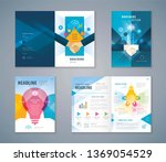 cover book design set  colorful ... | Shutterstock .eps vector #1369054529