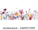 vector nature seamless... | Shutterstock .eps vector #1369071509