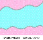 pink and mint turquoise... | Shutterstock .eps vector #1369078040