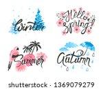 four seasons   winter  spring ... | Shutterstock .eps vector #1369079279