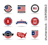 made in the usa. vol 2. | Shutterstock .eps vector #136908863