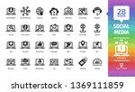 social media network glyph icon ...   Shutterstock .eps vector #1369111859