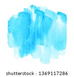 blue color watercolor wet... | Shutterstock .eps vector #1369117286