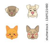 dogs cute kawaii vector... | Shutterstock .eps vector #1369121480