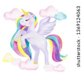 watercolor illustration with... | Shutterstock . vector #1369124063