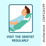 visit dentist regularly flat... | Shutterstock .eps vector #1369126199