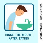 rinse mouth after eating vector ... | Shutterstock .eps vector #1369126226