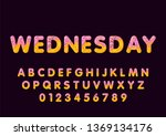 donut cartoon wednesday biscuit ... | Shutterstock .eps vector #1369134176