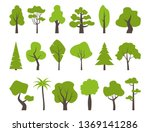 big set of various trees. tree... | Shutterstock .eps vector #1369141286