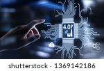 smart industry 4.0 innovation...   Shutterstock . vector #1369142186