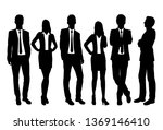 set of silhouettes of men and... | Shutterstock .eps vector #1369146410
