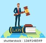 rule of law metaphor flat... | Shutterstock .eps vector #1369148549