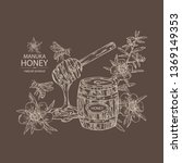 background with manuka honey ... | Shutterstock .eps vector #1369149353