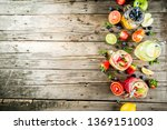 selection various fruit and... | Shutterstock . vector #1369151003