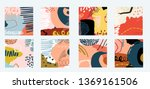 8 individual art abstract non... | Shutterstock .eps vector #1369161506
