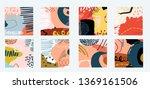 8 individual art abstract non... | Shutterstock .eps vector #1369161506