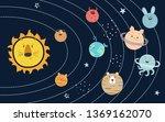 cartoon vector solar system... | Shutterstock .eps vector #1369162070