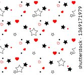 seamless pattern with red... | Shutterstock .eps vector #1369171979