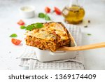 Tasty Lasagne With Meat  Cheese ...
