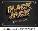 vector extra golden rich font.... | Shutterstock .eps vector #1369176059