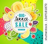 banner fruit. poster fresh food ...   Shutterstock .eps vector #1369181870