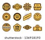 set of vintage brown labels  | Shutterstock . vector #136918193