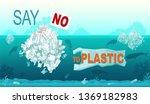 Say No Plastic. Lastic Ocean...