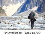 Climber On Mer De Glace Glacie...