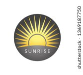 sunny logo. badge with sun.... | Shutterstock .eps vector #1369187750